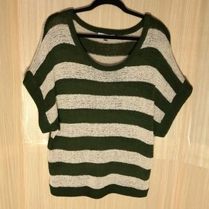WD.NY olive green scoop  neck sweater.  XL